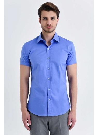 Hatemoğlu Kısa Kol Gömlek Mavi